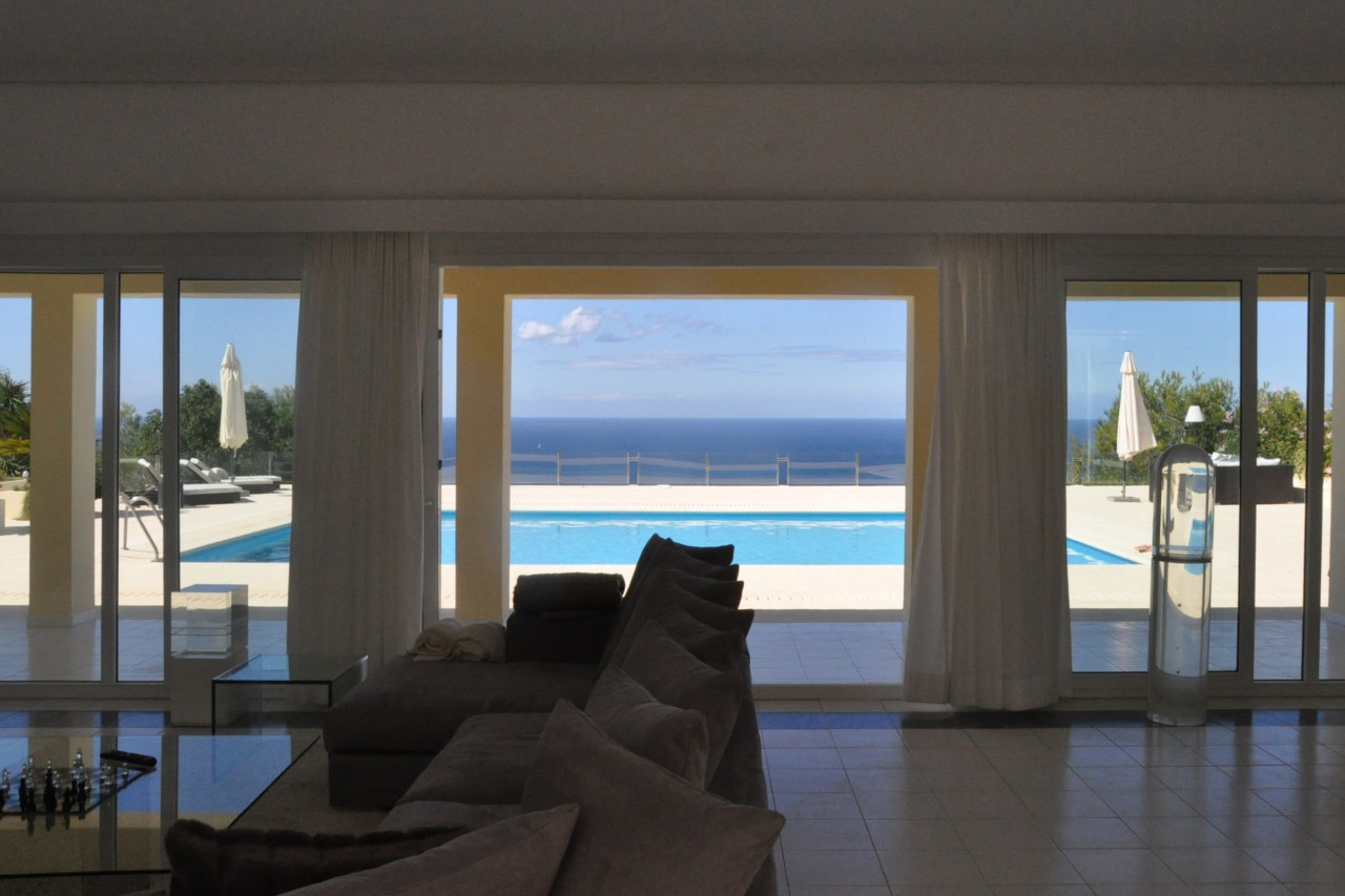 Amazing Villa in Cala Salada on a hill with mega views for rent